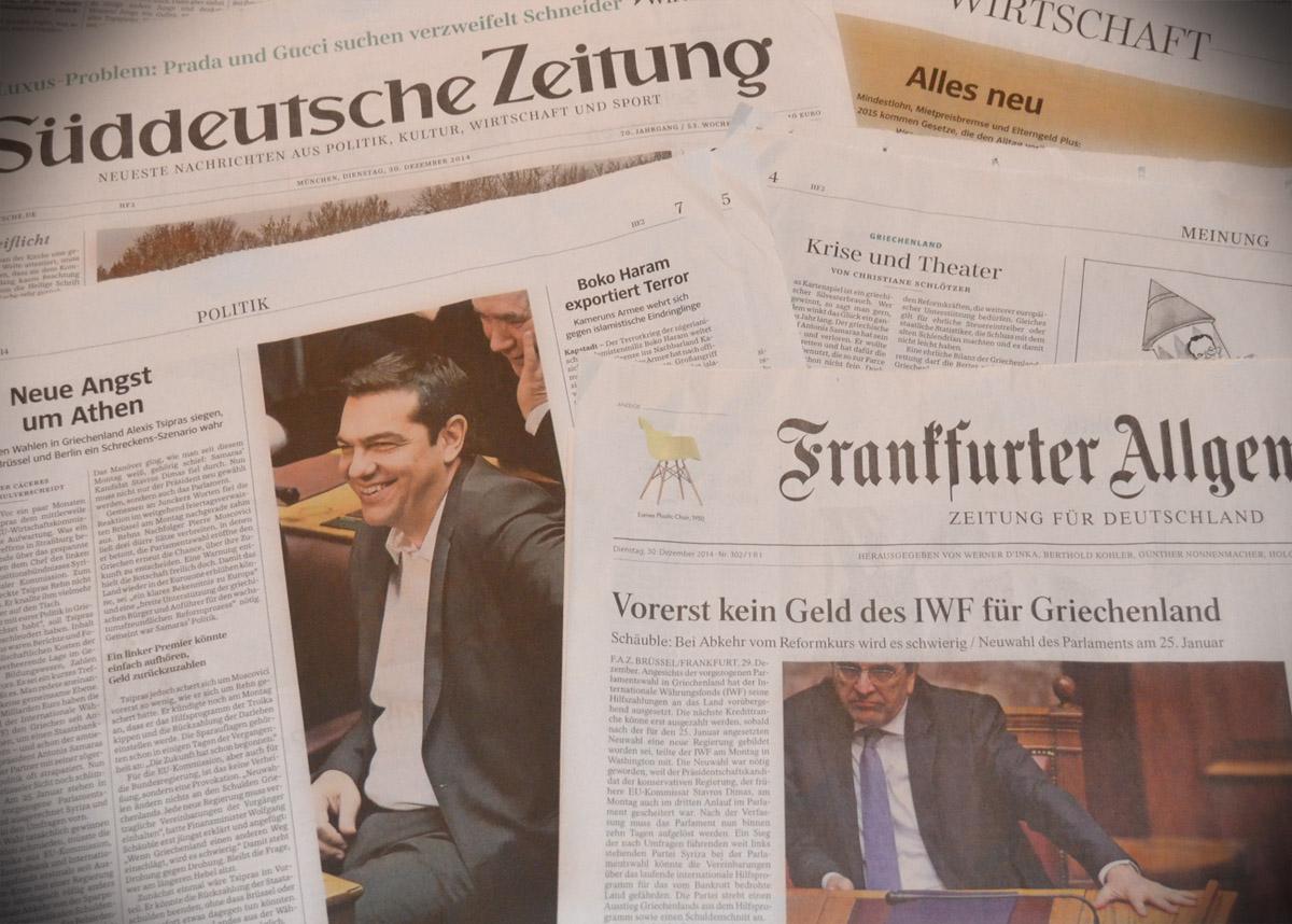 γερμανικός Τύπος εκλογές Ελλάδα 2015