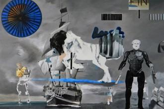 """Athens by night"", έργο της εικαστικού Ράνια Ράγκου από την 21η Art Athina (Μάιος 2015). Η Art Athina είναι από τις μακροβιότερες εκθέσεις Σύγχρονης Τέχνης στην Ευρώπη | Παραχώρηση από τη γκαλερί a.antonopoulou.art"